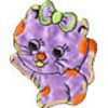 "Gamma  ""Gamma"" Термоаппликации ""L"" №21  L044-2 кошка с бантиком сиреневый 7.5х6.5 см"