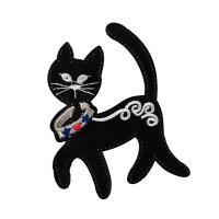"Gamma  ""Gamma"" Термоаппликация ""L"" №11  L024 кошка в ошейнике 9.5х7.5 см"
