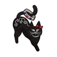 "Gamma  ""Gamma"" Термоаппликация ""L"" №11  L025 кошка с бантиком на ухе 9.4х8.2 см"