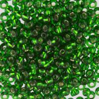 """Гамма  Бисер Чехия """"GAMMA"""" круглый 5 10/0 2.3 мм 50 г 1-й сорт E162 зеленый ( 57120 )"""