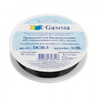 Гамма DGB3/06 Проволока для бисероплетения «Gamma» DGB-3, d 0,3мм 50 м №06 черный, 1шт.