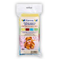 """Gamma AFW-040 """"Gamma"""" AFW-040 набор шерсти для валяния 100% мериносовая шерсть 4 х 10 г"""