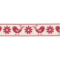 "Гамма B2 001/065 Лента декоративная с рисунком ""Весна"", красный"
