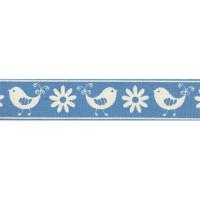 """Гамма B2 049/001 Лента декоративная с рисунком """"Весна"""", голубой"""