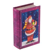 "Gamma BBK-01 ""Gamma"" BBK-01 шкатулка-книга 17 x 11 x 5 см №015 ""Санта на коньках"""