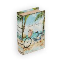 "Gamma BBK-01 ""Gamma"" BBK-01 шкатулка-книга 17 x 11 x 5 см №048 ""Велосипед на пляже"""