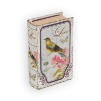 "Gamma BBK-01 ""Gamma"" BBK-01 шкатулка-книга 17 x 11 x 5 см №056 ""Птица и цветы"""