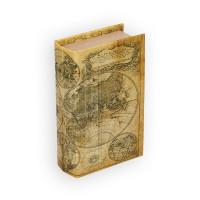 "Gamma BBK-01 ""Gamma"" BBK-01 шкатулка-книга 17 x 11 x 5 см №072 ""Карта мира"""