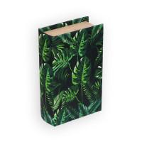 "Gamma BBK-01 ""Gamma"" BBK-01 шкатулка-книга 17 x 11 x 5 см №075 ""Монстера в джунглях"""