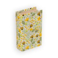 "Gamma BBK-01 ""Gamma"" BBK-01 шкатулка-книга 17 x 11 x 5 см №078 ""Желтые цветы"""