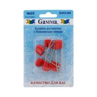 """Gamma BUKS-006 Булавки английские """"Gamma"""" BUKS-006 с безопасн.замком 40 мм в блистере 6 шт 05 красный"""