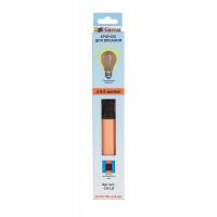 """Gamma CH-LD Для вязания """"Gamma"""" CH-LD крючок с подсветкой пластик d 6.0 мм 15.6 см в картонной упаковке с европодвесом оранжевый"""