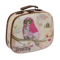 "Gamma DBQ-02 ""Gamma"" DBQ-02 декор. шкатулка ""чемоданчик"" 25 x 21 x 7.5 см №010 ""Розовый совенок"""
