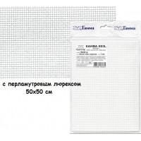 Гамма К03L Канва Aida №11 95% хлопок,5% терилен (с перламутровым люрексом)