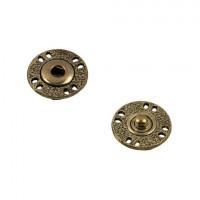 Гамма KLO-18 Кнопки пришивные Gamma KLO-18  d18 мм  5шт. №03 под бронзу