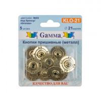 Гамма KLO-21 Кнопки пришивные Gamma KLO-21  d21 мм  5шт. №03 под бронзу
