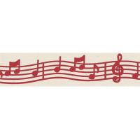 """Гамма L6 001/065 Лента декоративная с рисунком """"Симфония"""", красный"""