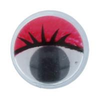 """Gamma MER-10 """"Gamma"""" MER-10 Глаза круглые с бегающими зрачками цв. d 10 мм 10 шт.  красный"""