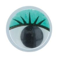 """Gamma MER-10 """"Gamma"""" MER-10 Глаза круглые с бегающими зрачками цв. d 10 мм 10 шт.  зеленый"""