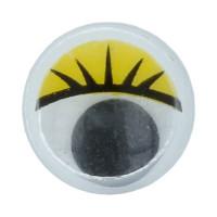 """Gamma MER-10 """"Gamma"""" MER-10 Глаза круглые с бегающими зрачками цв. d 10 мм 10 шт.  желтый"""