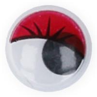 """Gamma MER-12 """"Gamma"""" MER-12 Глаза круглые с бегающими зрачками цв. d 12 мм 10 шт.  красный"""