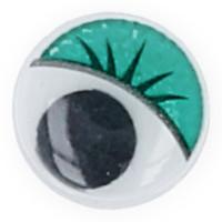 """Gamma MER-12 """"Gamma"""" MER-12 Глаза круглые с бегающими зрачками цв. d 12 мм 10 шт.  зеленый"""
