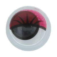 """Gamma MER-8 """"Gamma"""" MER- 8 Глаза круглые с бегающими зрачками цв. d 8 мм 10 шт.  красный"""