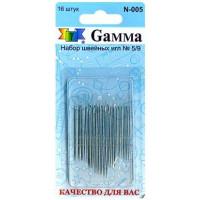 Gamma N-005 блистер 16 шт. Иглы ручные «Gamma» N-005, №5/9