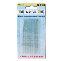 Гамма N-223 Иглы ручные для плотных тканей, 10 шт