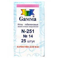 """Гамма N-251 Иглы ручные """"Gamma"""" N-251 гобеленовые №14, упак. - 25 шт, конверт"""