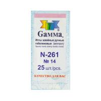 """Gamma N-261 Иглы для шитья ручные """"Gamma"""" N-261 гобеленовые №14 25 шт. в конверте острые"""