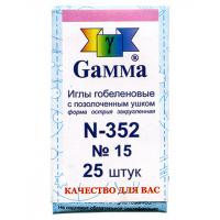 """Гамма N-352 Иглы ручные """"Gamma"""" N-352 гобеленовые №15 упак.-25шт"""