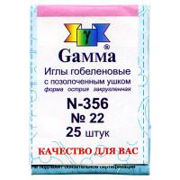 Gamma N-356 25 шт. Иглы ручные «Gamma» N-356 гобеленовые №22 острие закругленное