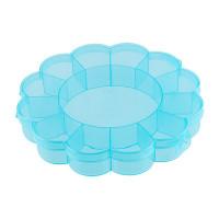 "Gamma OM-013 ""Gamma"" Коробка для шв. принадл. пластик OM-013 голубой\прозрачный"