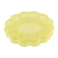"Gamma OM-013 ""Gamma"" Коробка для шв. принадл. пластик OM-013 желтый\прозрачный"