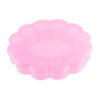"Gamma OM-013 ""Gamma"" Коробка для шв. принадл. пластик OM-013 розовый\прозрачный"
