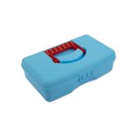 "Gamma OM-016 ""Gamma"" Коробка для шв. принадл. пластик OM-016 голубой"