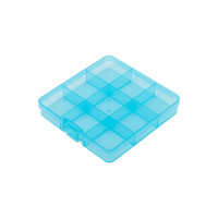 "Gamma OM-086 ""Gamma"" Коробка пластик для шв. принадл. пластик OM-086 голубой\прозрачный"