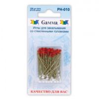 Гамма PH-010 Иглы  для закалывания со стеклянными головками, 40 шт