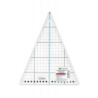 "Gamma QRL-08 Линейка для пэчворка 24 x 20 см в пакете ""треугольник 45°"", пластик ""Gamma"" QRL-08"
