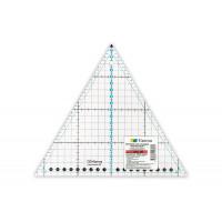 "Gamma QRL-09 Линейка для пэчворка 20 x 23 см в пакете ""треугольник 60°"", пластик ""Gamma"" QRL-09"