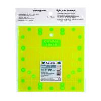 """Gamma RL-004 """"Gamma"""" RL-004 Линейка для пэчворка 15 x 15 см в пакете с еврослотом  пластик"""