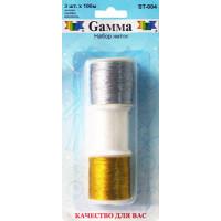 """Гамма ST004 Набор ниток """"Gamma"""" ST-004 (Золото, серебро, мононить)х100м, в блистере"""