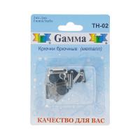 """Гамма TH-02 Крючки для брюк """"Gamma"""" TH-02 в блистере 2 шипа 3 шт. никель"""