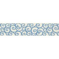 "Гамма Y1 001/049 Лента декоративная с рисунком ""Узоры"", голубой"