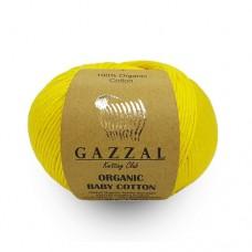 Пряжа для вязания Gazzal Organic Baby Cotton (Газзал Органик Беби Коттон)