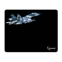 "GEMBIRD MP-GAME8 Коврик для мыши GEMBIRD MP-GAME8 ""Самолет"", ткань+резина, 250x200x3 мм, черный"