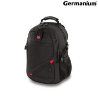 """GERMANIUM 226947 Рюкзак GERMANIUM """"S-01"""" универсальный, с отделением для ноутбука, влагостойкий, черный, 47х32х20 см, 226947"""