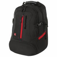 """GERMANIUM 226949 Рюкзак GERMANIUM """"S-03"""" универсальный, с отделением для ноутбука, увеличенный объем, черный, 46х32х26 см, 226949"""