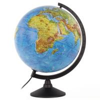 Globen К013200223 Глобус физический/политический Globen Классик, диаметр 320 мм, с подсветкой, рельефный, К013200223
